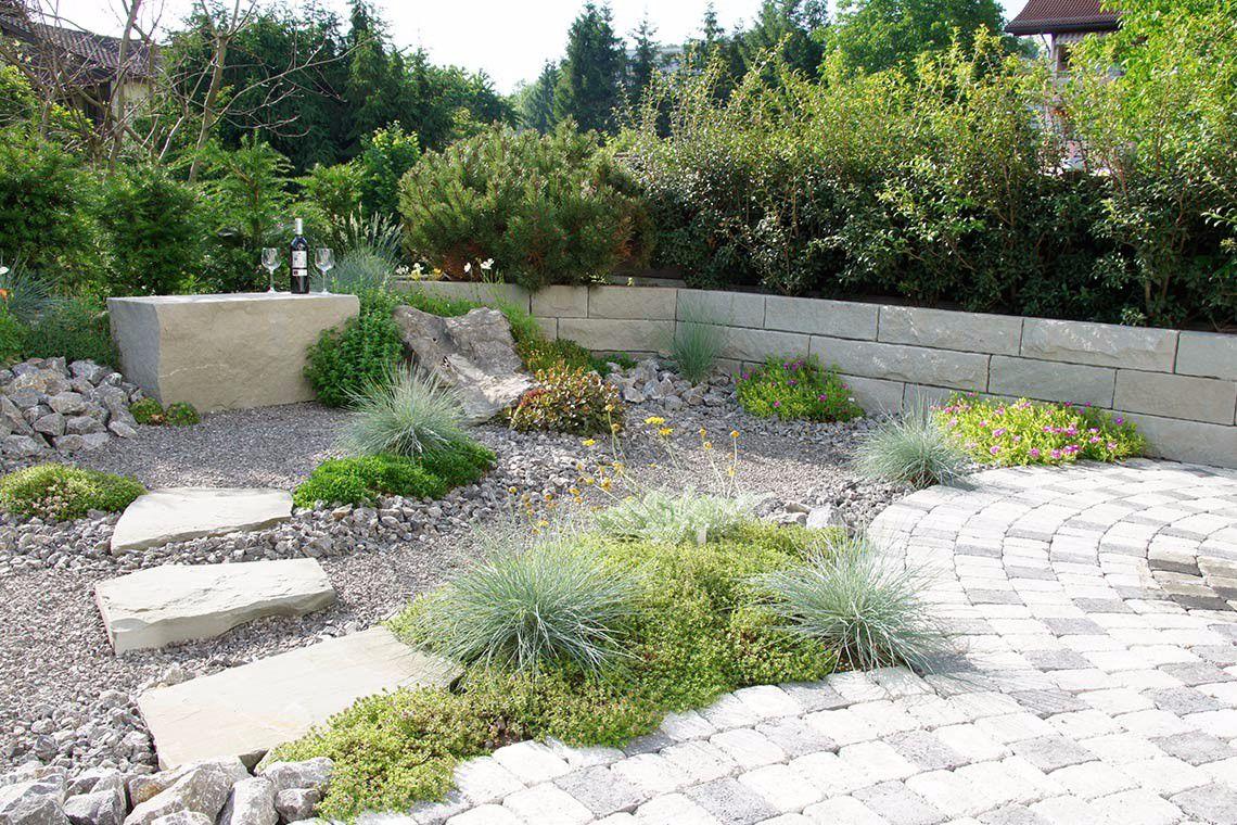 Garten gestaltung - Moderner steingarten ...